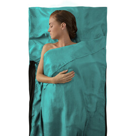 Sea to Summit Premium Silk Stretch Liner - Traveller sea foam